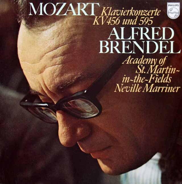 ブレンデル&マリナーのモーツァルト/ピアノ協奏曲第27&18番 蘭PHILIPS 3314 LP レコード
