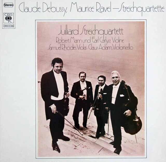 ジュリアード四重奏団のドビュッシー&ラヴェル/弦楽四重奏曲集 独CBS 3314 LP レコード