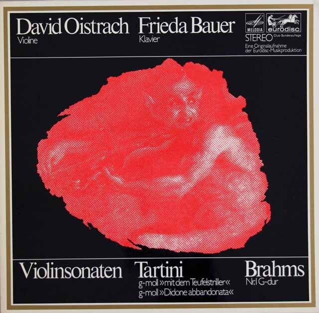 オイストラフ&バウアーのタルティーニ/「悪魔のトリル」ほか 独eurodisc 3314 LP レコード