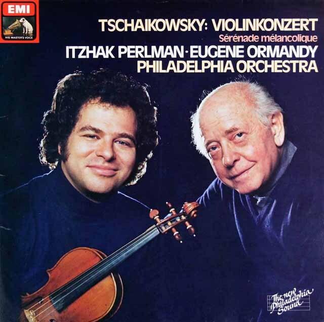 パールマン&オーマンディのチャイコフスキー/ヴァイオリン協奏曲ほか 独EMI 3314 LP レコード