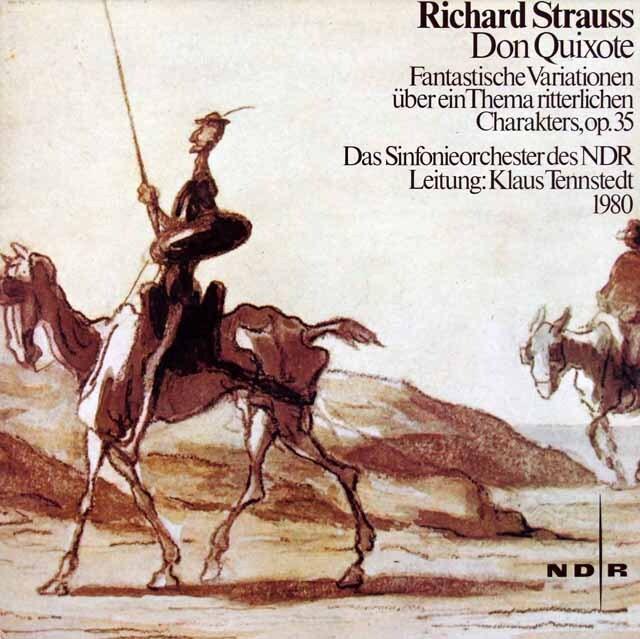 テンシュテットのR.シュトラウス/交響詩「ドン・キホーテ」 独NDR 3315 LP レコード