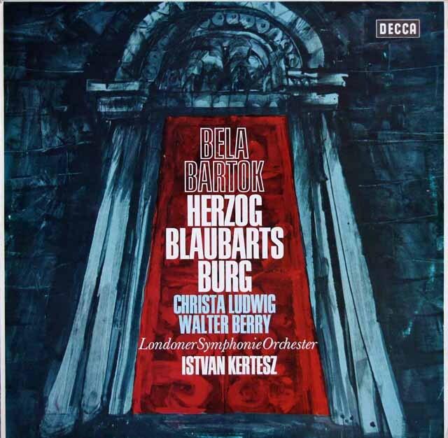 ケルテスのバルトーク/「青ひげ公の城」 独DECCA 3315 LP レコード
