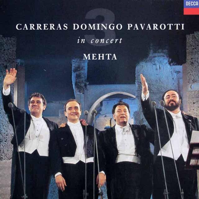 三大テナー、メータのローマ・カラカラ・コンサート 蘭DECCA 3315 LP レコード