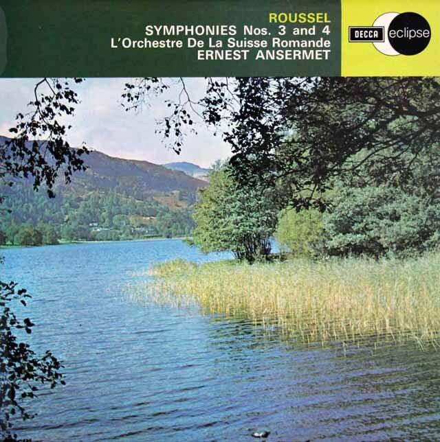 アンセルメのルーセル/交響曲第3、4番 英DECCA 3315 LP レコード
