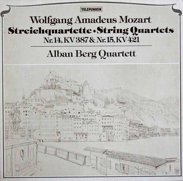 アルバン・ベルク四重奏団のモーツァルト/弦楽四重奏曲第14、15番 独TELEFUNKEN 3315 LP レコード