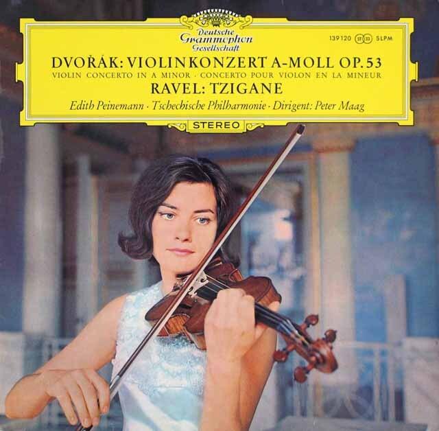 パイネマンのドヴォルザーク/ヴァイオリン協奏曲ほか 独DGG 3315 LP レコード