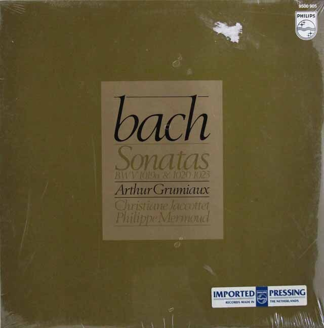 【未開封】 グリュミオー、ジャコッテ、メルモーのバッハ/ソナタ集 蘭PHILIPS 3315 LP レコード
