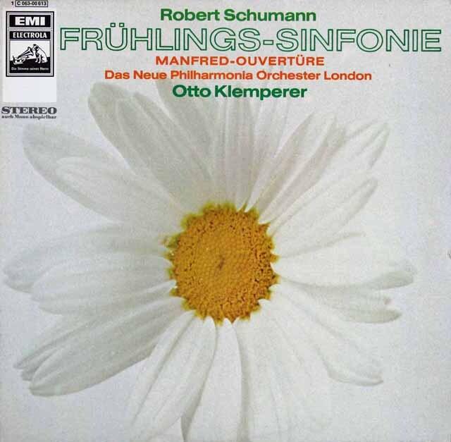 クレンペラーのシューマン/交響曲第1番「春」ほか 独EMI 3315 LP レコード