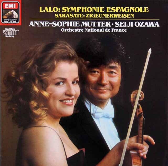 ムター&小澤のラロ/スペイン交響曲ほか 独EMI 3315 LP レコード