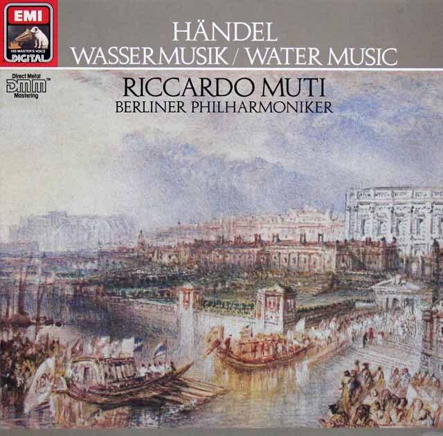 ムーティのヘンデル/水上の音楽 独EMI 3315 LP レコード