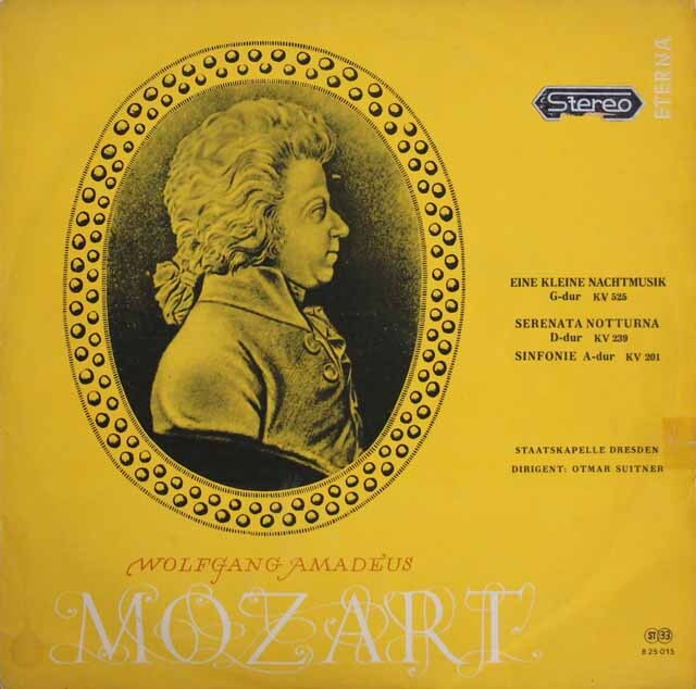 【オリジナル盤】スウィトナーのモーツァルト/「アイネ・クライネ・ナハトムジーク」ほか 独ETERNA 3316 LP レコード