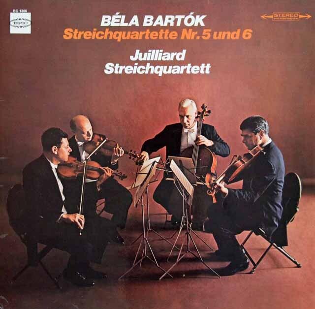ジュリアード四重奏団のバルトーク/弦楽四重奏曲第5、6番 独EPIC 3316 LP レコード
