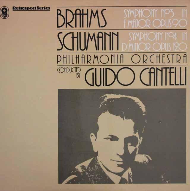 カンテッリのブラームス/交響曲第3番ほか 英EMI 3316 LP レコード