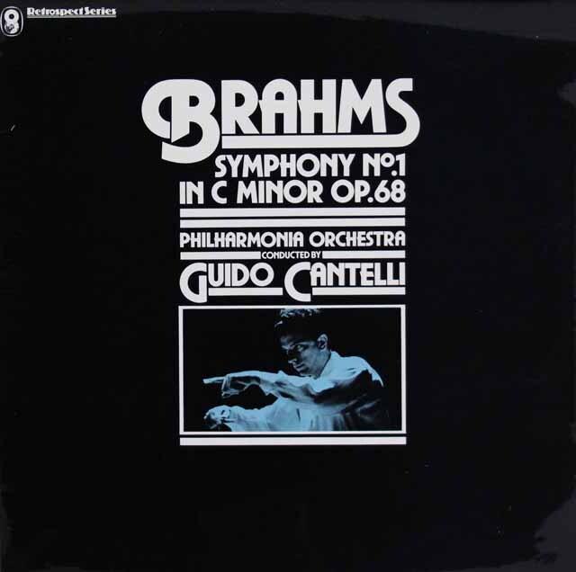 カンテッリのブラームス/交響曲第1番 英EMI 3316 LP レコード
