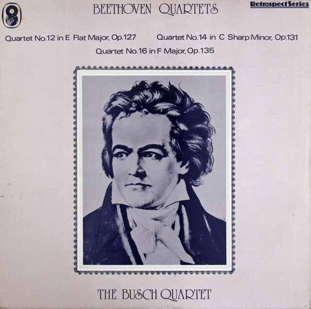ブッシュ四重奏団のベートーヴェン/弦楽四重奏曲第12、14、16番 英EMI 3316 LP レコード
