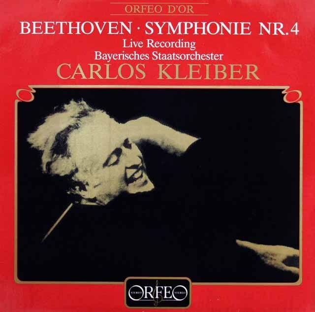 クライバーのベートーヴェン/交響曲第4番 独ORFEO 3316 LP レコード
