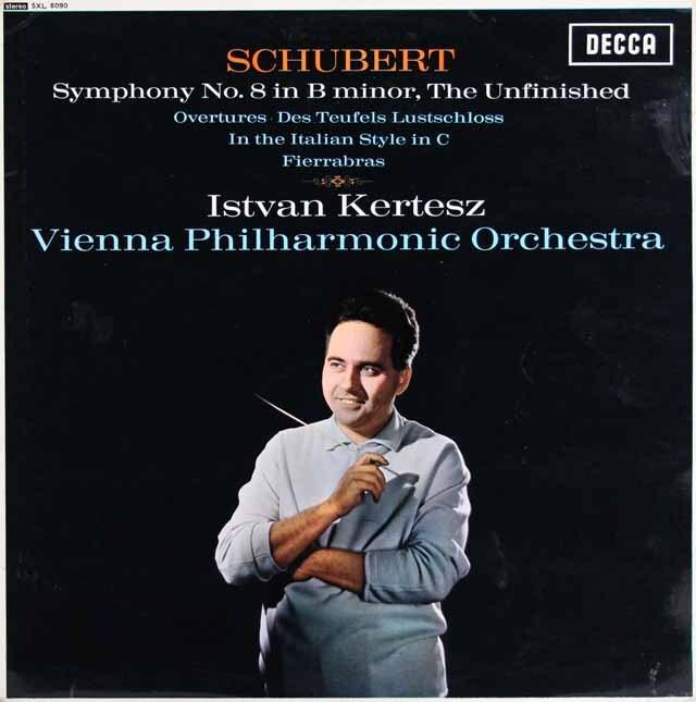 ケルテスのシューベルト/交響曲第8番「未完成」ほか 英DECCA 3316 LP レコード