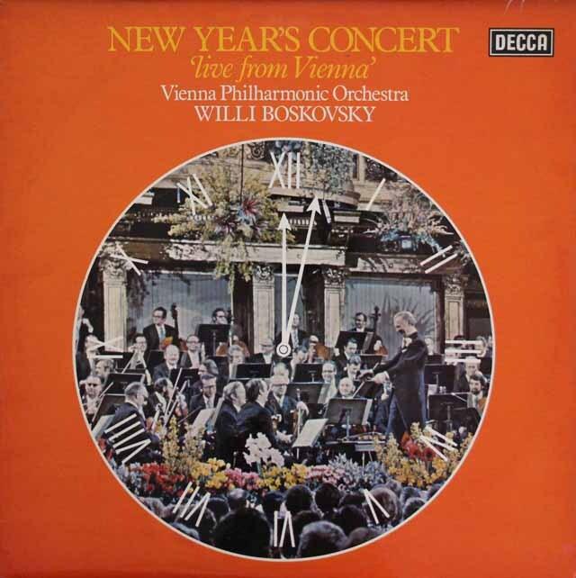 【オリジナル盤】 ボスコフスキーのニューイヤー・コンサート1975ライヴ 英DECCA 3316 LPレコード