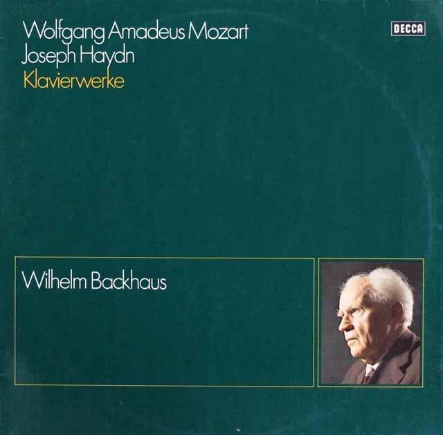 バックハウスのモーツァルト&ハイドン/ソナタ集 独DECCA 3316 LP レコード