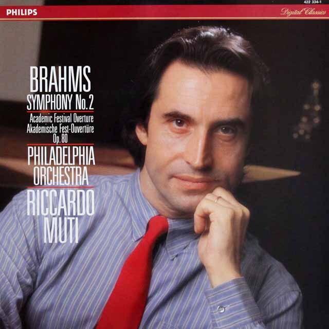 ムーティのブラームス/交響曲第2番&大学祝典序曲 蘭PHILIPS 3316 LP レコード
