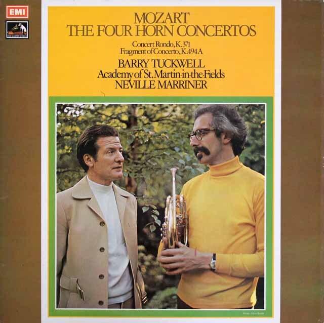 【オリジナル盤】 タックウェル&マリナーのモーツァルト/ホルン協奏曲集 英EMI 3316 LP レコード