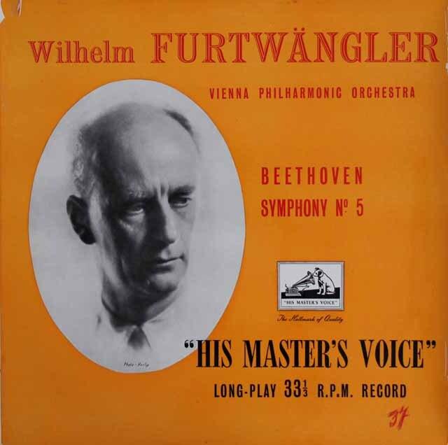 【オリジナル盤】 フルトヴェングラーのベートーヴェン/交響曲第5番「運命」 英EMI 3316 LP レコード