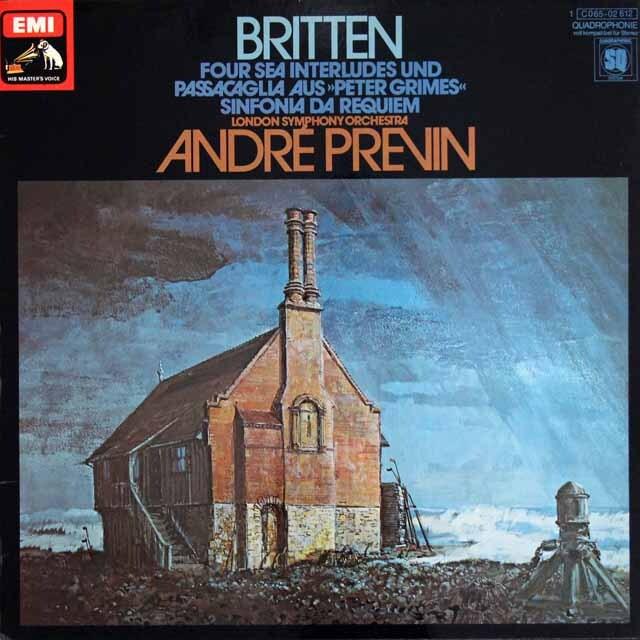 【独最初期盤】 プレヴィンのブリテン/「ピーター・グライムズ」から「四つの間奏曲」ほか 独EMI 3316 LP レコード