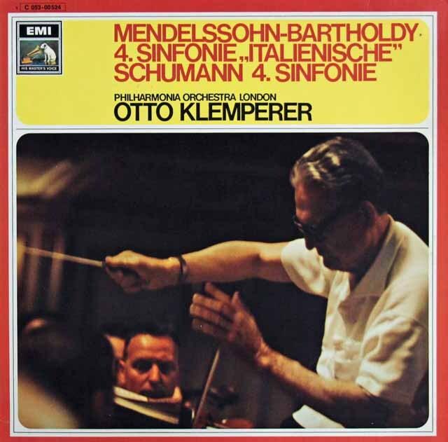 クレンペラーのメンデルスゾーン/交響曲第4番「イタリア」ほか 独EMI 3316 LP レコード