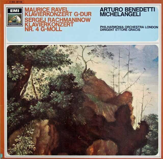 ミケランジェリのラヴェル&ラフマニノフ/ピアノ協奏曲 独EMI 3316 LP レコード