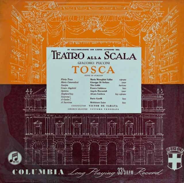 【オリジナル盤】 カラスのプッチーニ/「トスカ」 英Columbia 3316 LP レコード