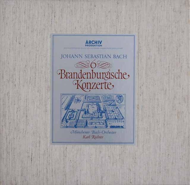 リヒターのバッハ/ブランデンブルク協奏曲全曲 独ARCHIV 3316 LP レコード