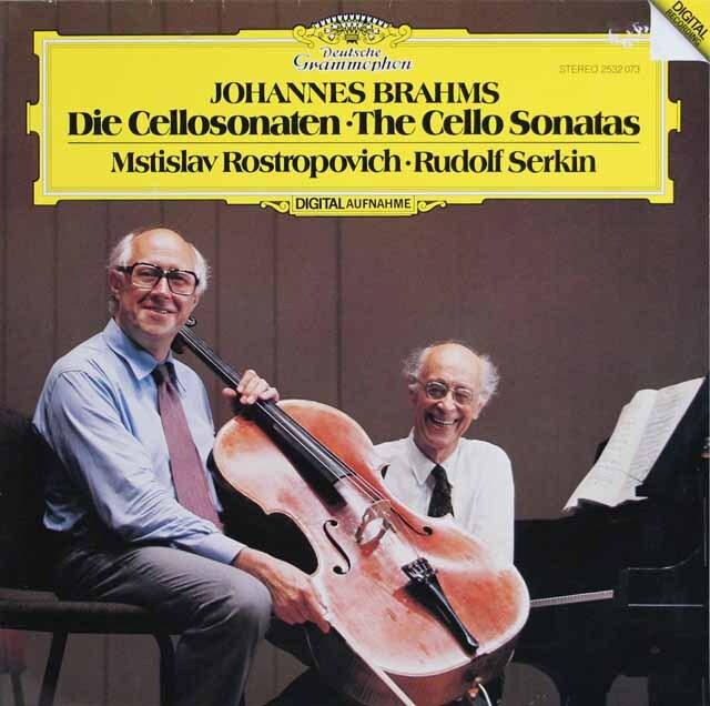 ロストロポーヴィチ、ゼルキンのブラームス/チェロソナタ第1、2番 独DGG 3316 LP レコード