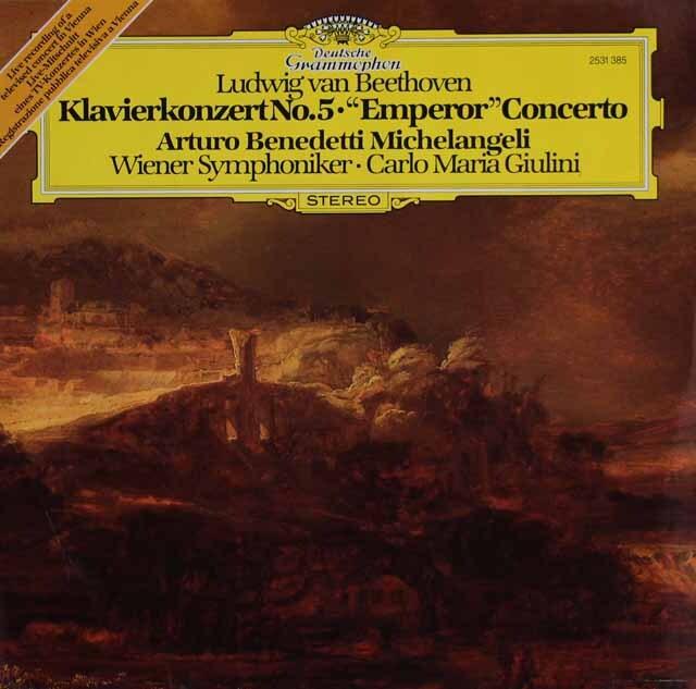 ミケランジェリ、ジュリーニのベートーヴェン/ピアノ協奏曲第5番「皇帝」 独DGG 3316 LP レコード