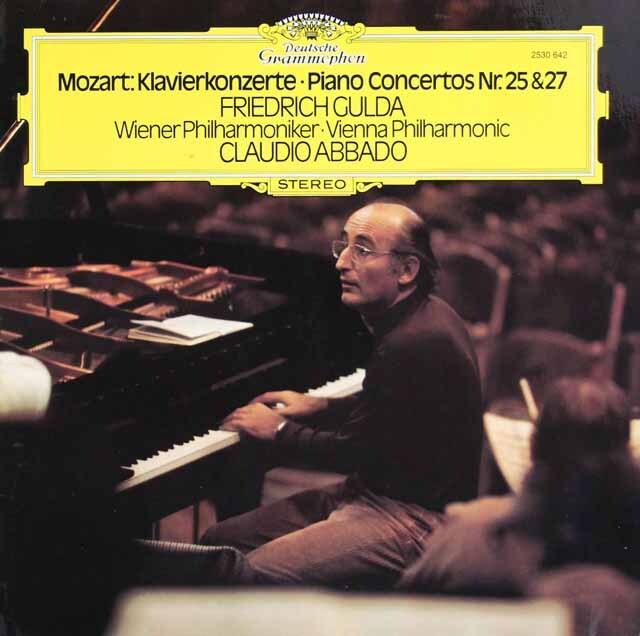 グルダ&アバドのモーツァルト/ピアノ協奏曲第25、27番 独DGG 3316 LP レコード