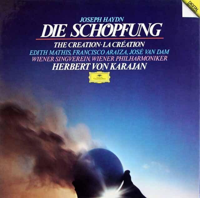 カラヤン、ウィーン・フィルのハイドン/「天地創造」 独DGG 3316 LP レコード
