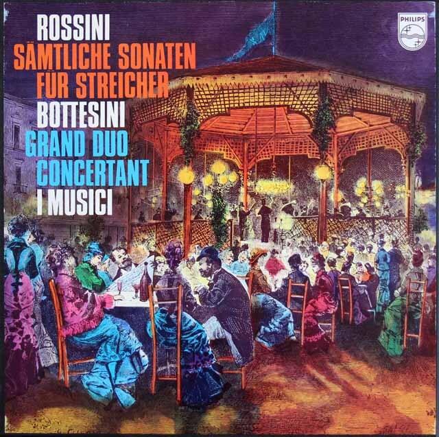 イ・ムジチのロッシーニ/弦楽のための6つのソナタほか 蘭PHILIPS 3316 LP レコード