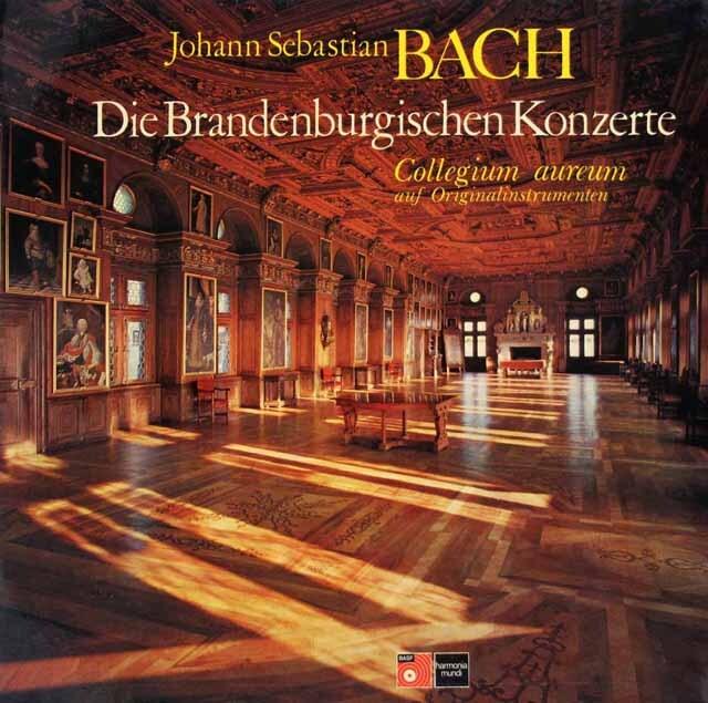 コレギウム・アウレウムのバッハ/ブランデンブルク協奏曲全集 独HM 3317 LP レコード