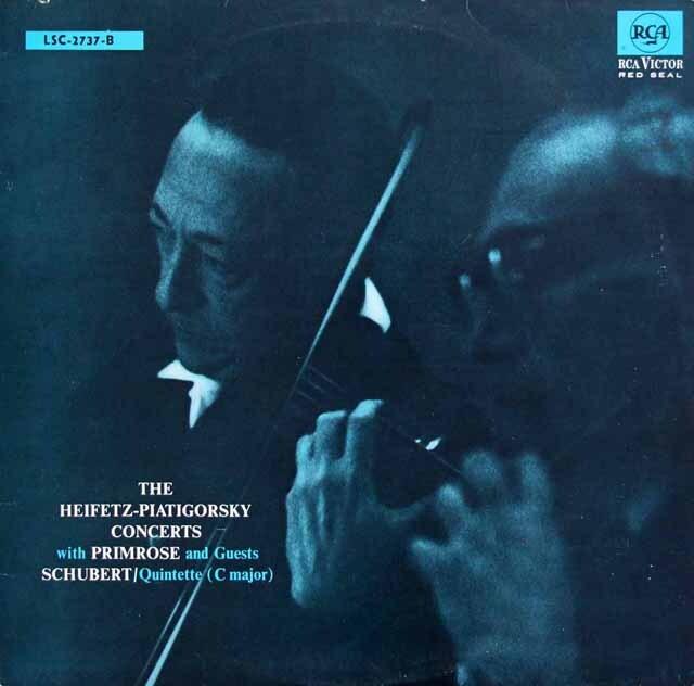 ハイフェッツ&ピアティゴルスキーらのシューベルト/弦楽五重奏曲 独RCA 3317 LP レコード