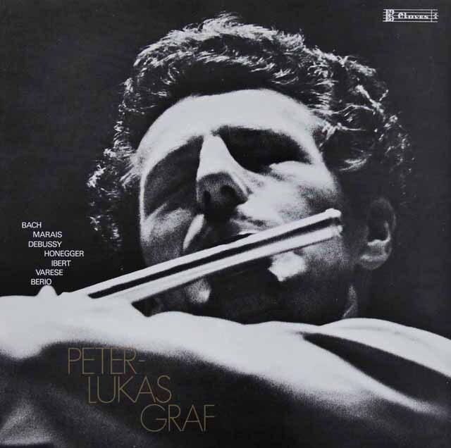 グラーフの無伴奏フルート・リサイタル スイスclaves 3317 LP レコード