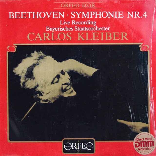 クライバーのベートーヴェン/交響曲第4番 独ORFEO 3317 LP レコード