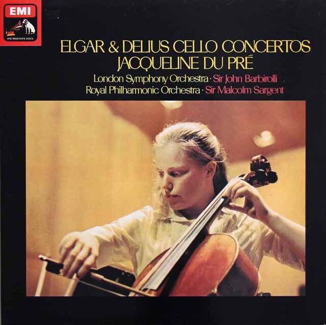 デュ・プレのエルガー&ディーリアス/チェロ協奏曲 英EMI 3317 LP レコード
