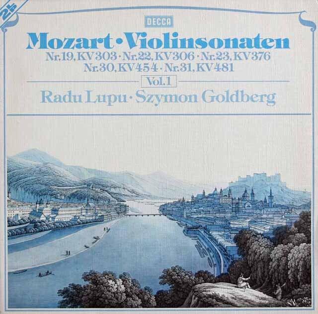 ルプー&ゴールドベルクのモーツァルト/ヴァイオリンソナタ集 vol.1 独DECCA 3317