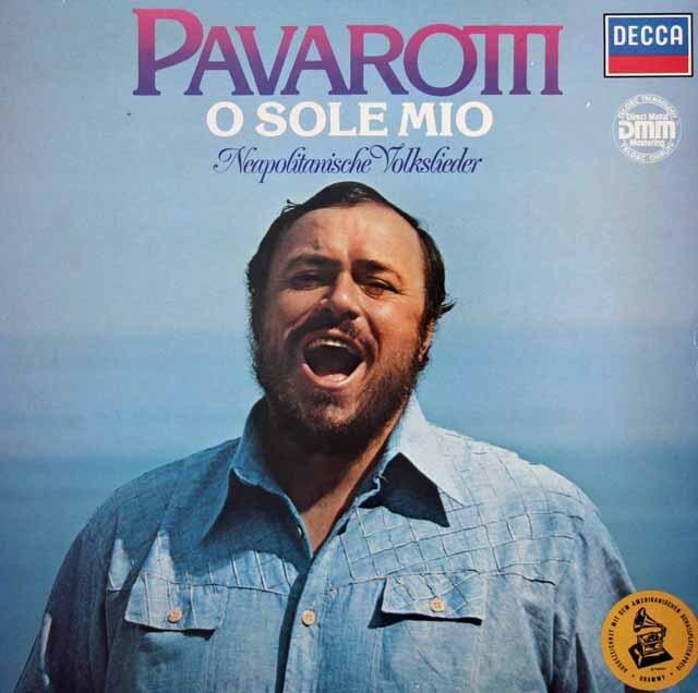 パヴァロッティ「オ・ソレ・ミオ~イタリア民謡集」  独DECCA 3317 LP レコード