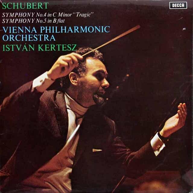 【オリジナル盤】 ケルテスのシューベルト/交響曲第4番「悲劇的」、第5番 英DECCA 3317 LP レコード