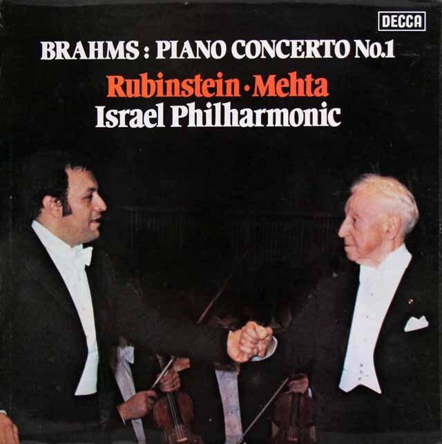 【オリジナル盤】 ルービンシュタイン&メータのブラームス/ピアノ協奏曲第1番 英DECCA 3317 LP レコード