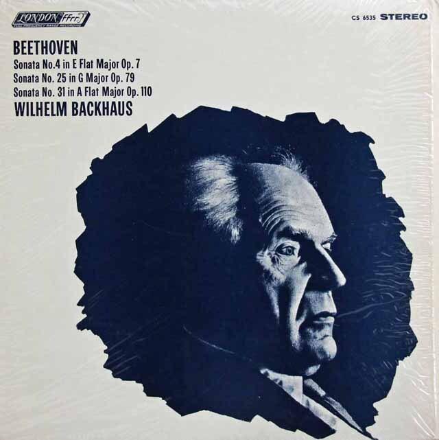 バックハウスのベートーヴェン/ピアノソナタ第4、25、31番 英LONDON 3317 LP レコード