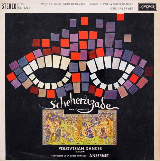 アンセルメのリムスキー=コルサコフ/「シェヘラザード」ほか 英LONDON 3317 LP レコード