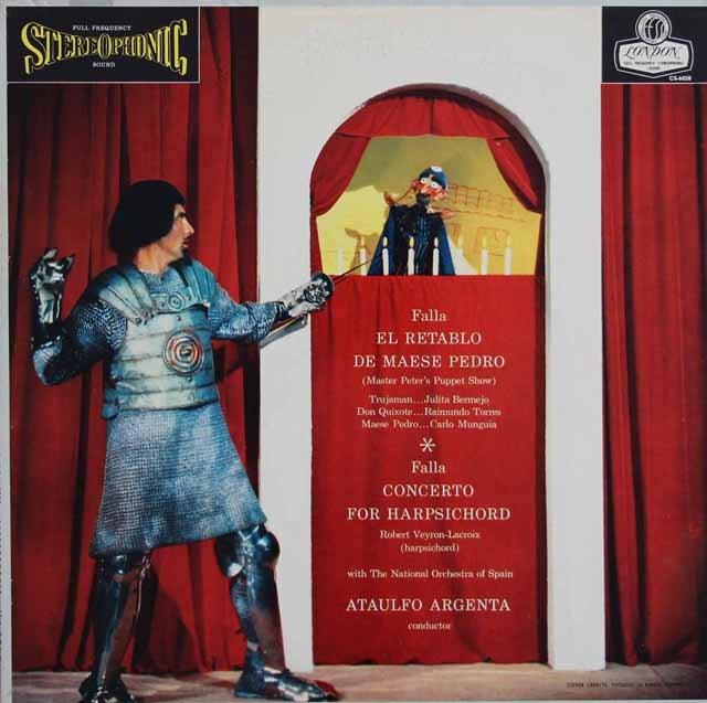 【ブルー・バックジャケット】 アルヘンタのファリャ/「ペドロ親方の人形芝居」 ほか   英LONDON 3317 LP レコード