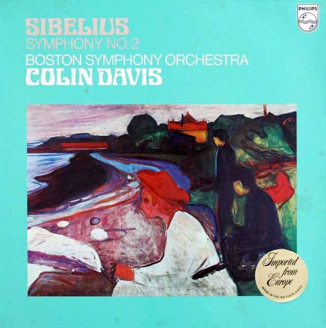 デイヴィスのシベリウス/交響曲第2番 蘭PHILIPS 3317 LP レコード