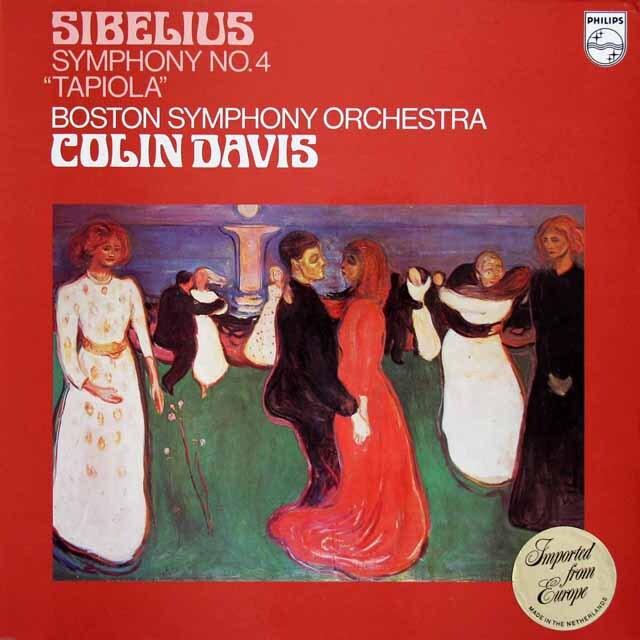 デイヴィスのシベリウス/交響曲第4番ほか 蘭PHILIPS 3317 LP レコード